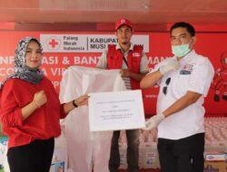 Posko PMI Muba Terima Bantuan APD dan Paket Sembako dari Donatur