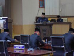Bupati Muba Sampaikan Tanggapan Terhadap Pandangan Umum Fraksi DPRD