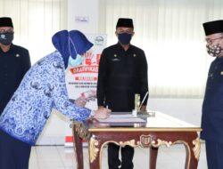 11 Tenaga Kesehatan, Dokter dan Bidan PTT di Muba Disumpah PNS Lewat Vidcon