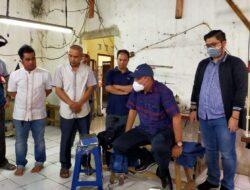 Beni Hernedi Ajak Kerja Sama Pelaku Usaha Konveksi Asal Muba di Bandung Produksi Masker
