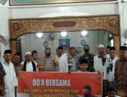 Bhabinkamtibmas Ajak Do,a Bersama Angkat Covid-19 di Masjid Jami' Babussalam