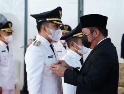 HD Resmi Lantik Enam Pasangan Bupati dan Wakil Bupati di Sumsel