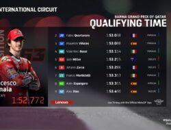 Hasil Kualifikasi MotoGP Qatar 2021: Bagnaia Start Terdepan