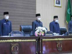 Tujuh Fraksi DPRD Muba Sampaikan Pemandangan Umum Atas 5 Raperda Kab. Muba