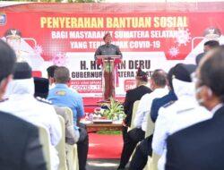 Herman Deru Gelontorkan Bansos Bagi Warga OKU yang Terdampak Covid-19