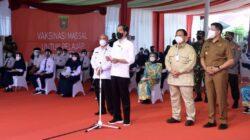 Presiden Joko Widodo Tinjau Vaksinasi Pelajar di Kota Samarinda